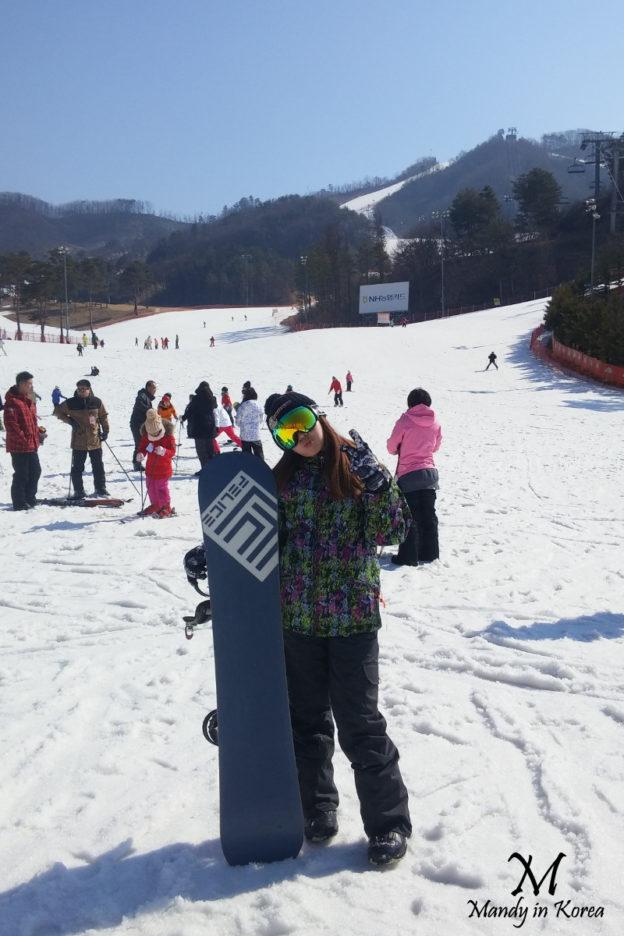 韓國滑雪初體驗超緊張❄跌跌撞撞還好有熱心OPPA扶一把!!